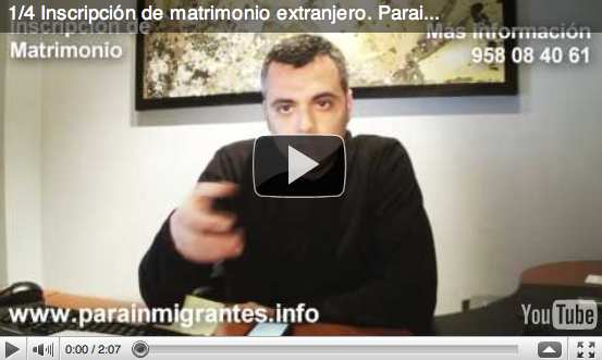 video inscripción de matrimonio