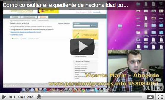 trámite de nacionalidad española por internet