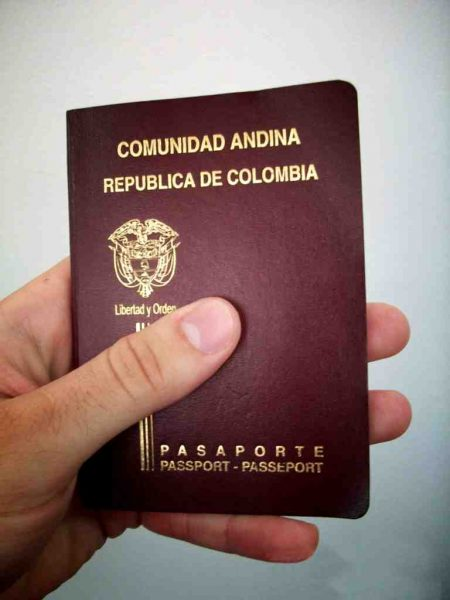 pasaporte colombia