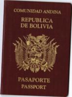pasaporte república de bolivia