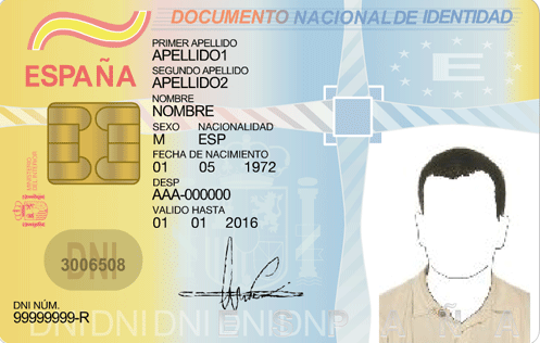 documento nacional identidad