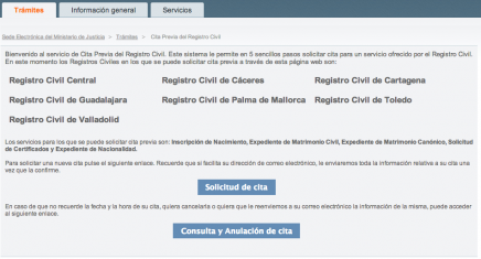 Cita Previa en el Registro Civil. Pedir Cita Previa por Internet para presentar un expediente en el Registro Civil. - Cita Previa Registro Civil