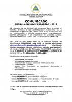 El Consulado Móvil de Nicaragua estará en Zarzagoza. La Asociación Atarraya colaborará con la gestión de los trámites.