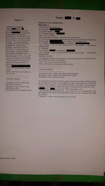 Registro Matrimonio Catolico Notaria : Certificado literal de matrimonio