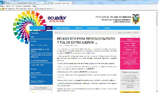 Nuevos servicios por internet del consulado del ecuador en - Internet en valencia ...