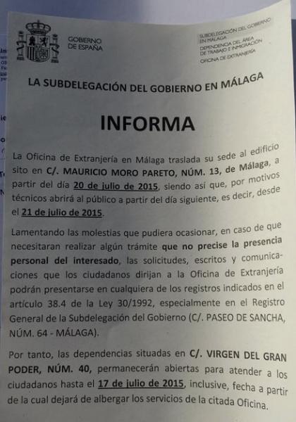 Nueva oficina de extranjer a en m laga - Oficina de extranjeria malaga ...