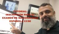 Tutorial en vídeo sobre el proceso de inscripción o matrícula para el examen de nacionalidad española CCSE y DELE. Proceso paso a paso.