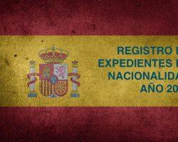 Registro de Expedientes de Nacionalidad Año 2015. Estado actual y fecha.