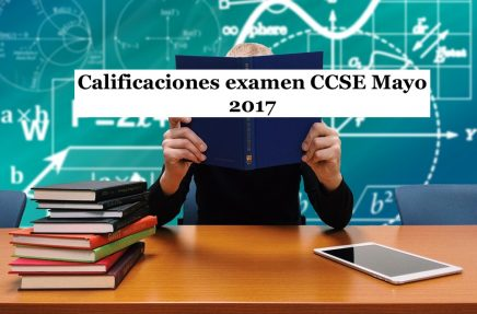 Calificaciones examen CCSE Mayo 2017