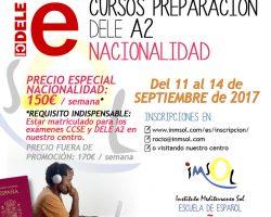 ¡Nuevos cursos de preparación al examen DELE A2 en septiembre!