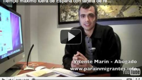 Tiempo máximo que un extranjero puede salir de España con tarjeta de residencia