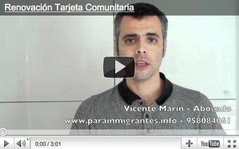 renovar la tarjeta de residencia comunitaria por matrimonio de español