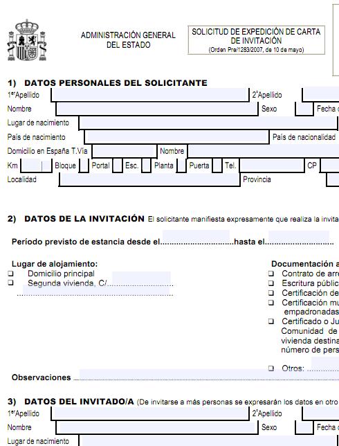 modelo carta de invitación impreso descargar
