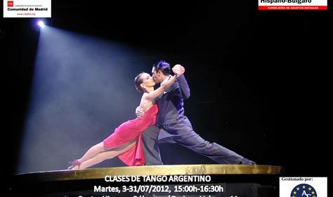 Clases de Tango Argentino en el Centro Hispano Búlgaro