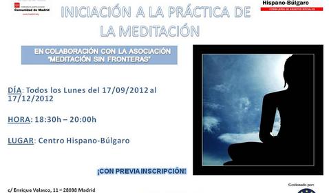 Iniciación a la Práctica de la Meditación en el Centro Hispano Búlgaro