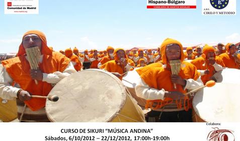 Curso de Sikuri en el Centro Hispano Búlgaro