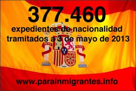 expedientes de nacionalidad tramitados mayo 2013