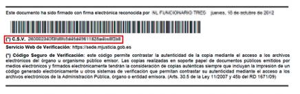 código seguro de verificación