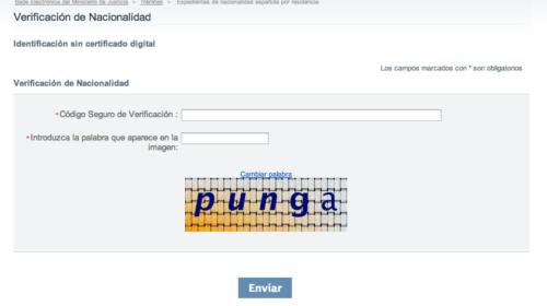 Código Seguro de Verificación CSV – Nacionalidad Española Concedida