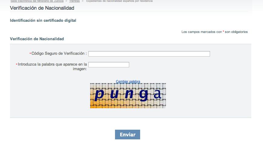 csv código seguro de verificación nacionalidad española