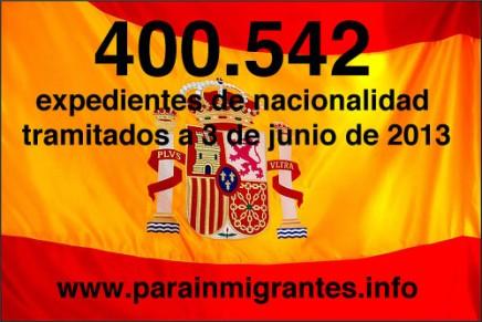 400.542 expedientes de nacionalidad española han sido ya tramitados por los Registradores de la Propiedad dentro del Plan Intensivo de Nacionalidad.