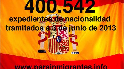 Superados los 400.000 expedientes de nacionalidad tramitados por los Registradores
