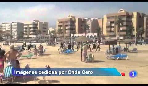 Inmigrantes llegan a Melilla sorprendiendo a los bañistas