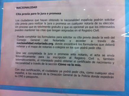 el registro civil de barcelona recomienda hacer juras en notaría