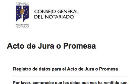 Email de Cita para Jura de Nacionalidad en el Colegio de Notarios de Madrid