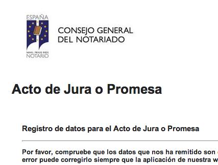El Colegio de Notarios de Madrid comienza con las citas para Jura de Nacionalidad. Las citas están siendo enviadas por email y en algunos casos, asignadas por teléfono.