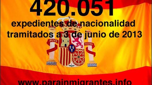 420.051 expedientes de nacionalidad tramitados por los Registradores