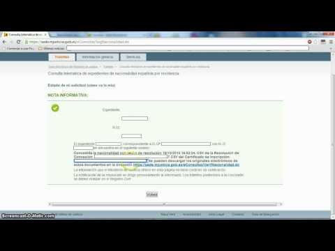 Vídeo en el que se puede ver cómo se realiza la descarga de una partida de nacimiento a través de Internet con el Código Seguro de Verificación (CSV).