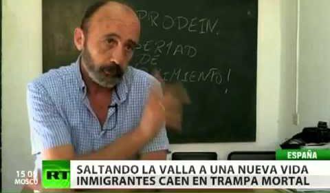 Inmigrantes africanos en peligro en la frontera entre Marruecos y España
