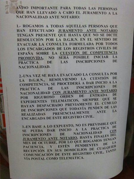 Inscripci n de juras de notar a en barcelona - Registro bienes muebles barcelona telefono ...