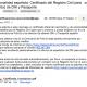Correo electrónico con el Certificado del Registro Civil para solicitud de DNI y Pasaporte