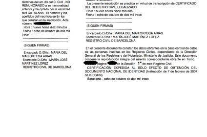 Barcelona comienza a inscribir las partidas de nacimiento de las juras hechas en notaría
