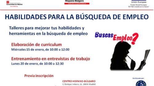 Talleres de Habilidades para la búsqueda de empleo en el Centro Hispano Búlgaro