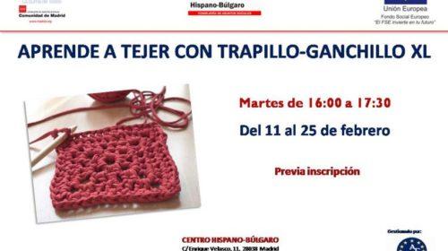 Taller Aprende a tejer con trapillo en el Centro Hispano Búlgaro