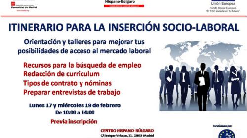 Itinerario formativo de inserción socio-laboral en el Centro Hispano Búlgaro