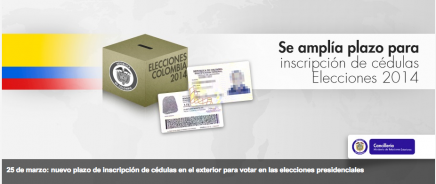 inscripción de cédulas de ciudadanía colombianas