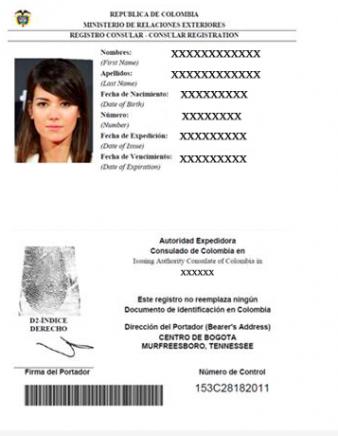 tarjeta de inscripción consular