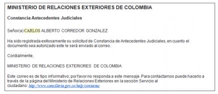 Cómo pedir la constancia judicial de Colombia