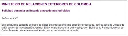 Antecedente judicial de Colombia