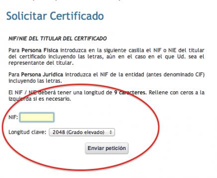 cómo pedir el certificado digital