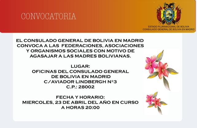 homenaje a las madres bolivianas