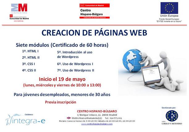 nuevo curso de creación de páginas web