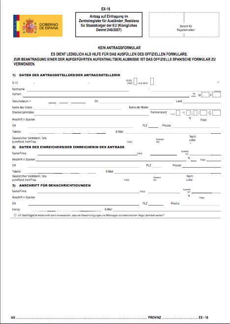 certificado de registro de UE