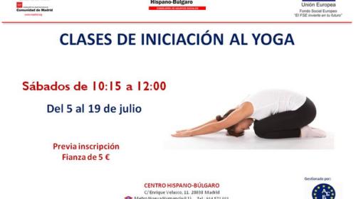 Curso de iniciación al yoga en el Centro Hispano Búlgaro