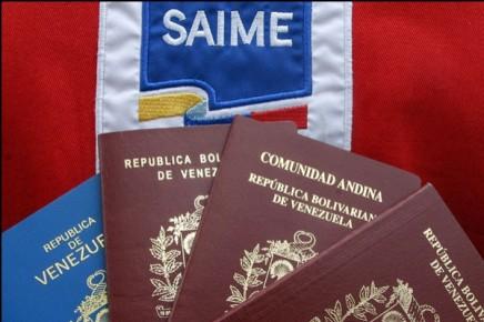 pasaportes venezolanos saime