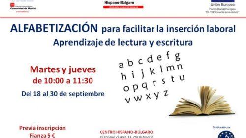 Curso de alfabetización en el Centro Hispano Búlgaro